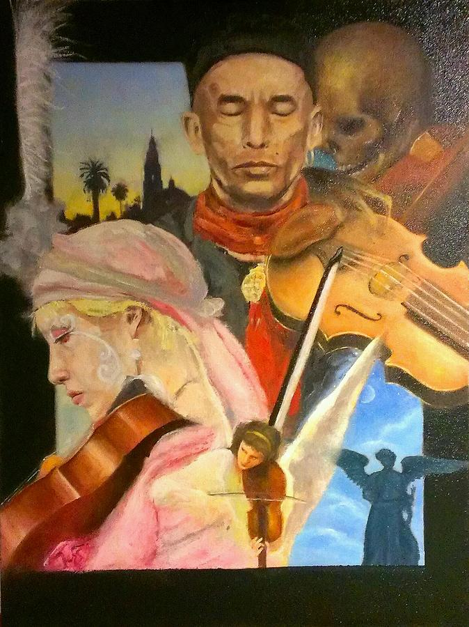 Musicians Painting - Tribal Baroque by Kevin Yuen