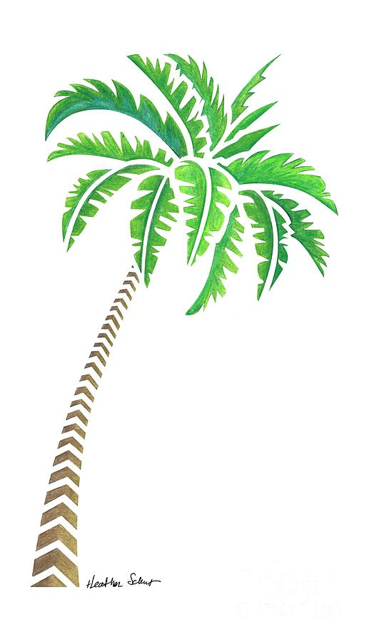 Tribal Coconut Palm Tree by Heather Schaefer