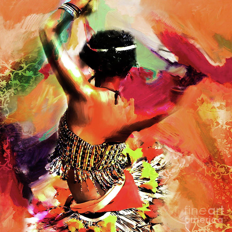 Tribe Painting - Tribal Dance 0321 by Gull G