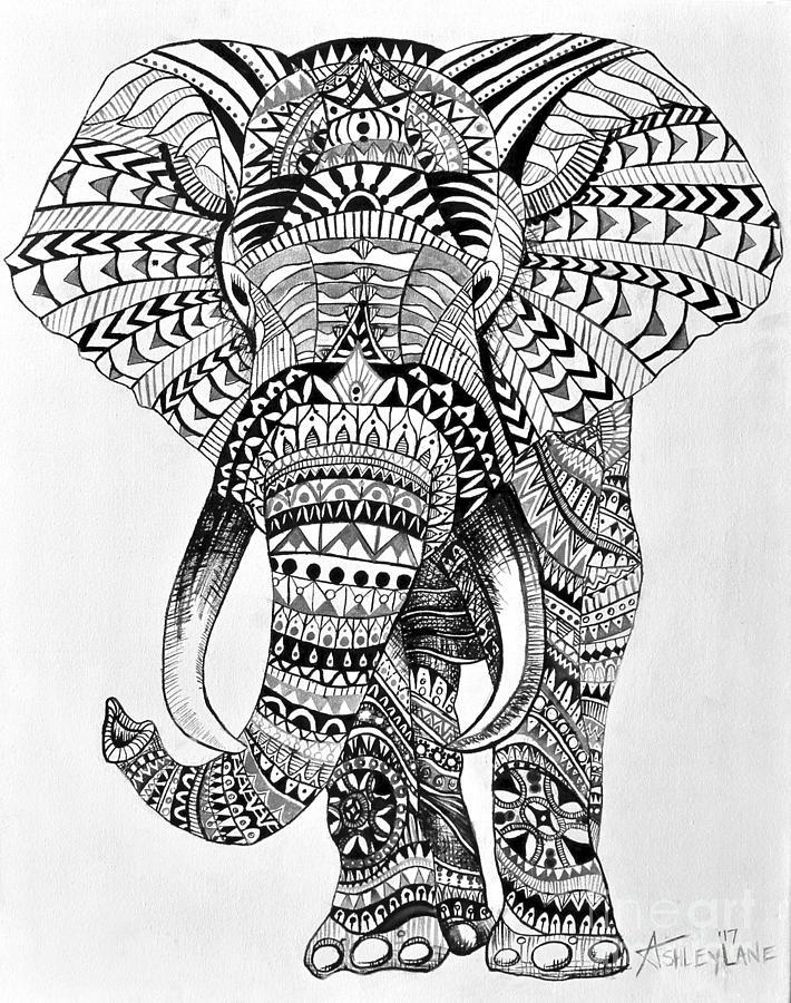 tribal elephant paintingashley lane