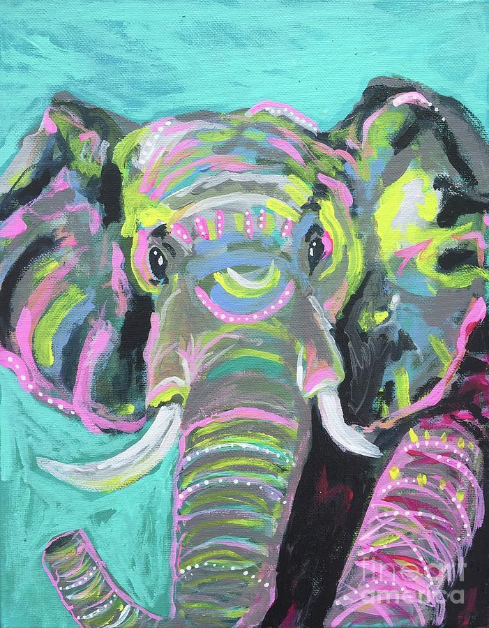 Tribal Elephant by Kim Heil