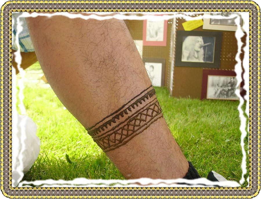 Henna Tattoos Painting - Tribal Leg Band by Henna Tattoos Ogden Utah