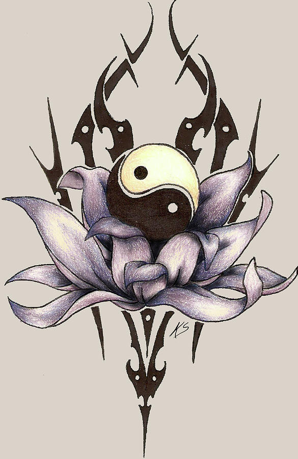 Tribal Lotus Mixed Media By Katherine Sancomb