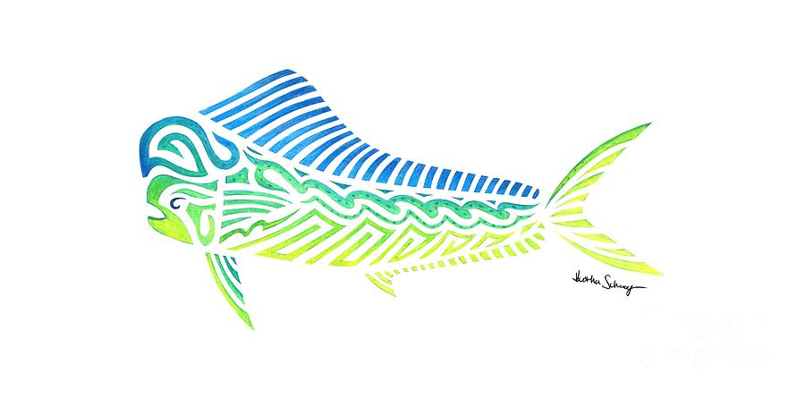 Tribal Mahi Mahi by Heather Schaefer