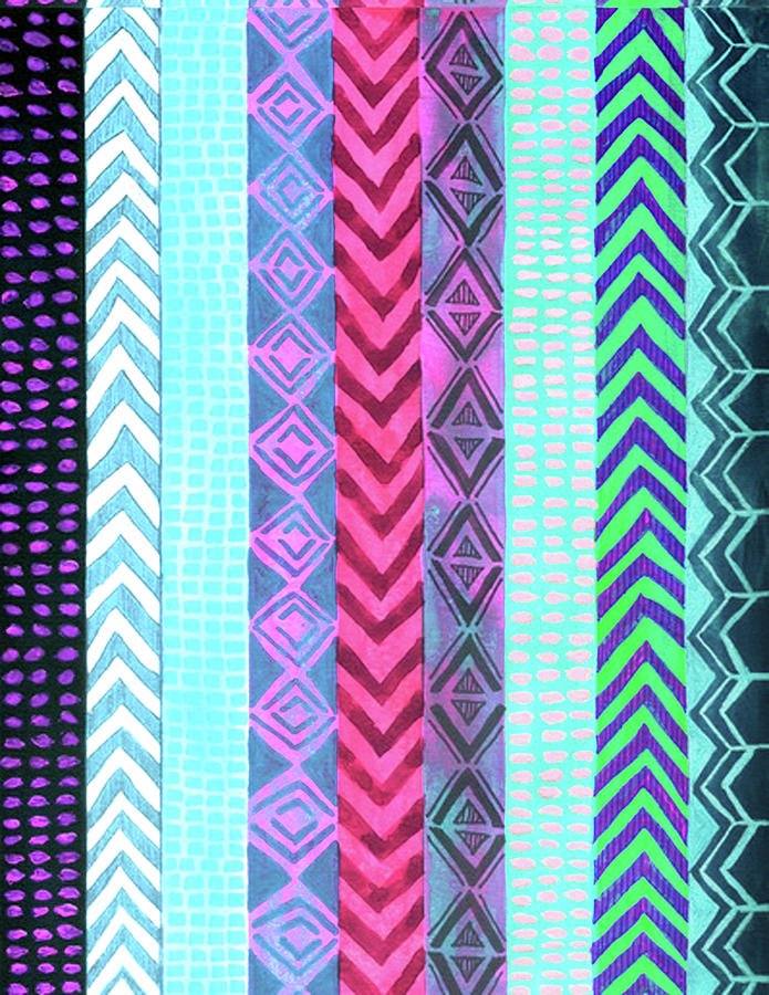 Painting Painting - Tribal Pattern 04 by Aloke Creative Store