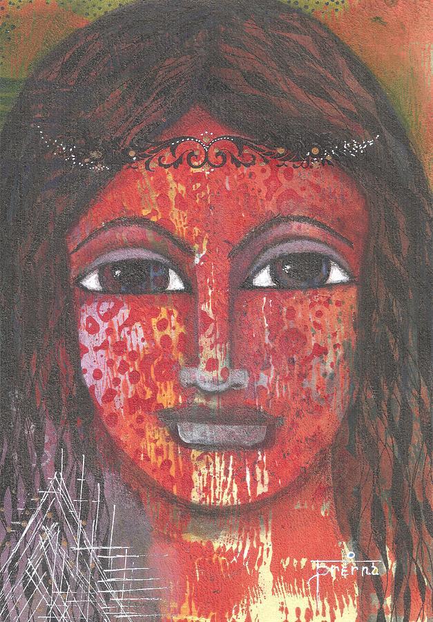 Woman Mixed Media - Tribal Woman by Prerna Poojara
