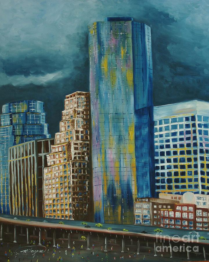 City Scapes Painting - Tribeka by Milagros Palmieri