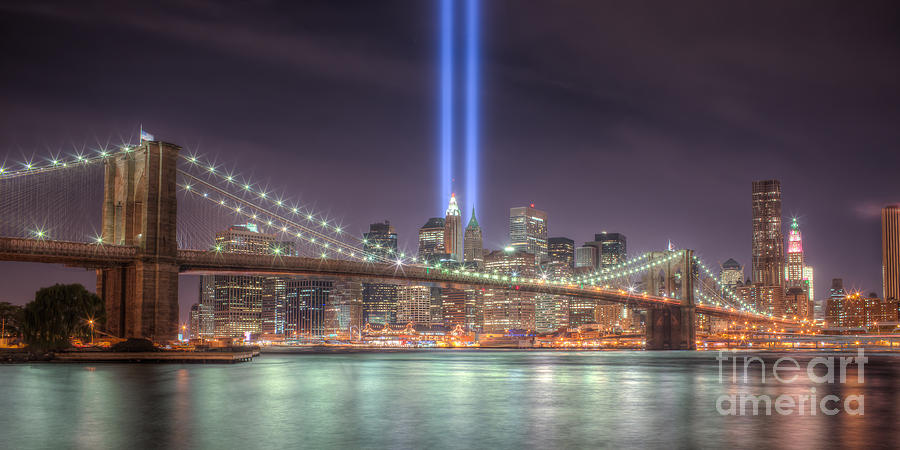 September 11 Attacks Photograph - Tribute In Light IIi by Clarence Holmes