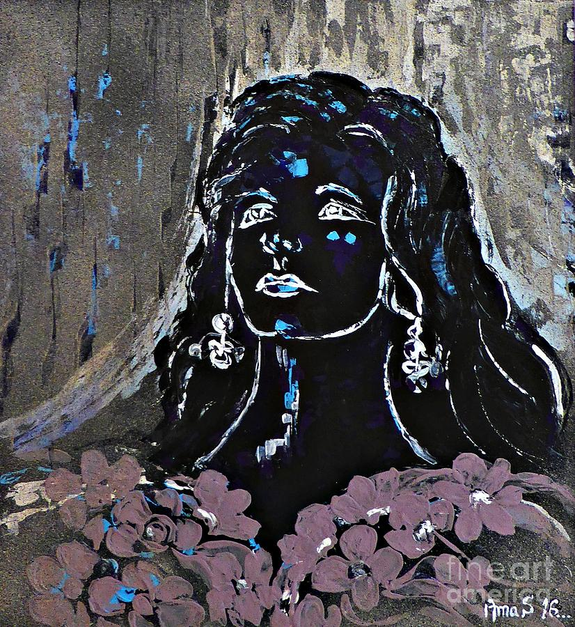 Amalia Rodrigues Painting - Tribute To Amalia Rodrigues by Amalia Suruceanu