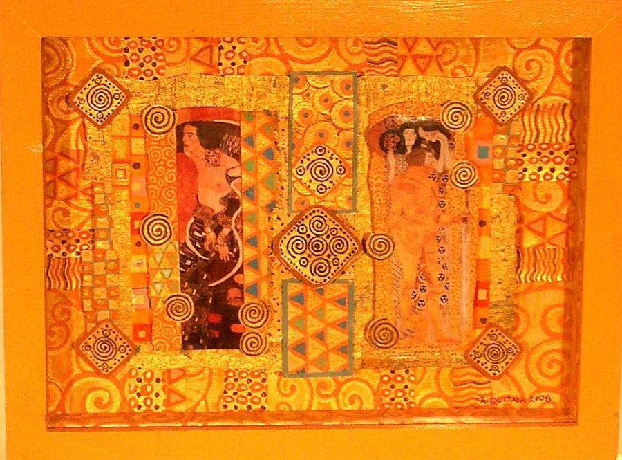 Icons Painting - Tribute To Gustav Klimt by Robert Quijada