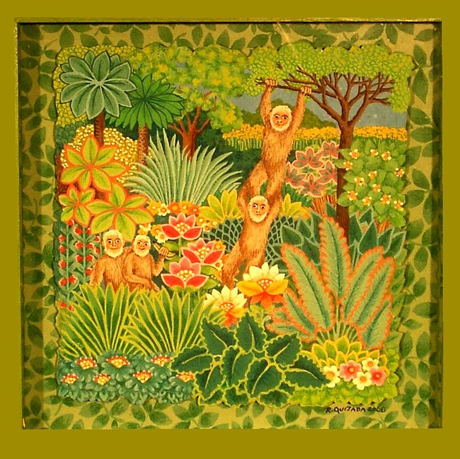 Icons Painting - Tribute to Henri Rousseau by Robert Quijada