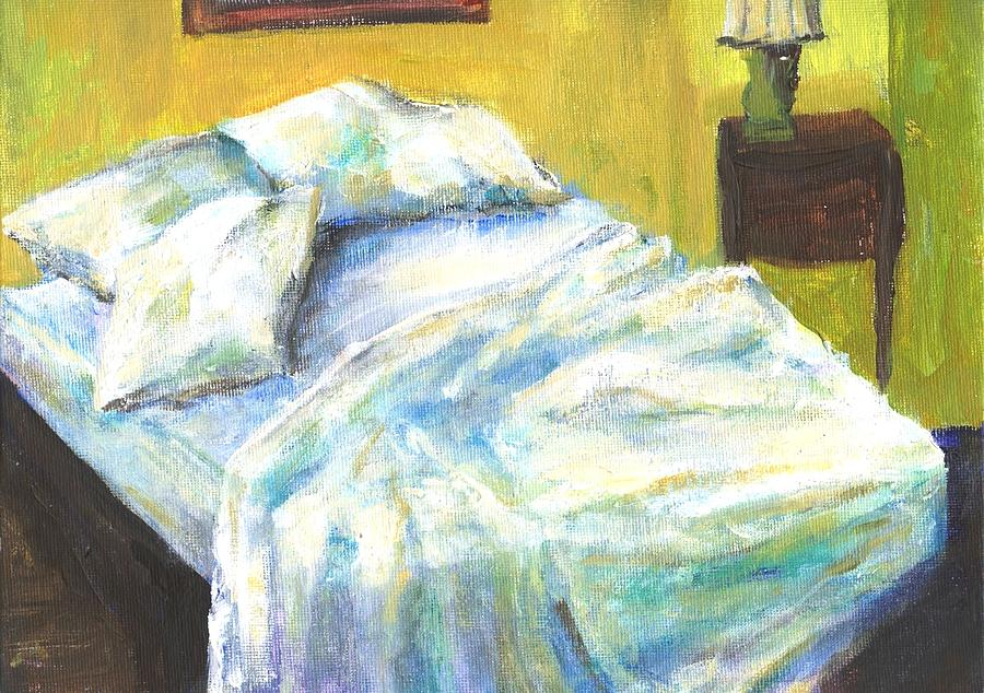 Bed Painting - Tribute To Marc by Randy Sprout
