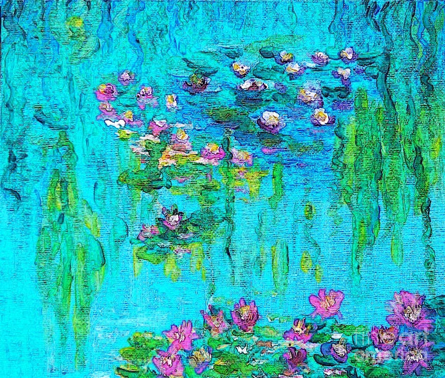 Water Lilies Painting - Tribute To Monet by Holly Martinson