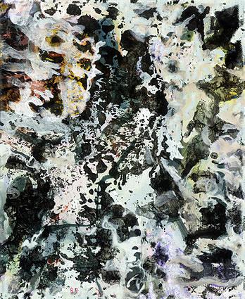 Painting Painting - Tribute To Pollock by Ali EL HADJ TAHAR