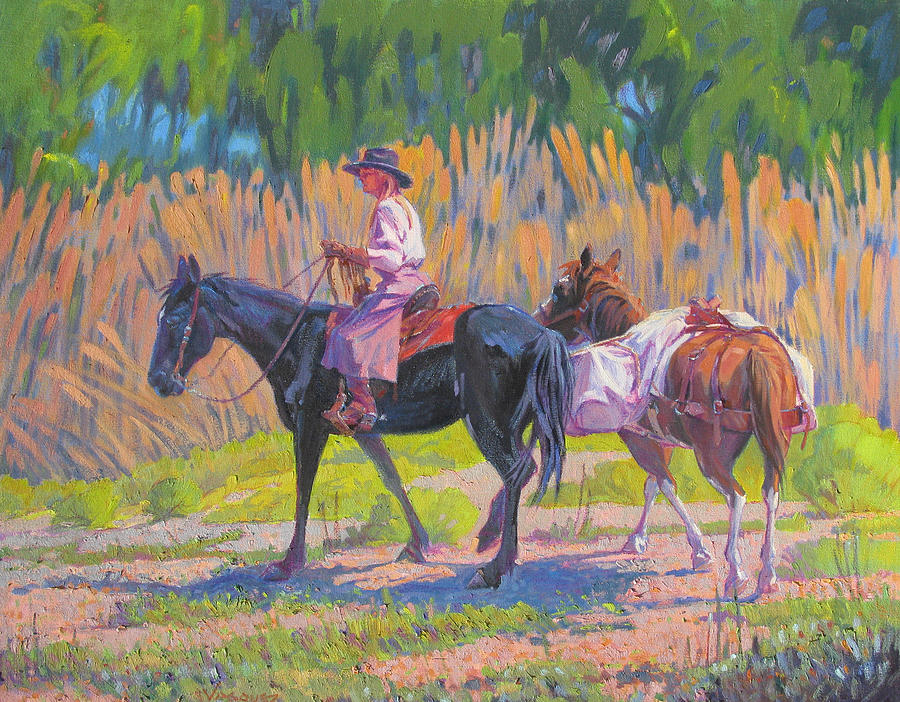 Western Painting - Tribute To The Cowgirl by Sal Vasquez