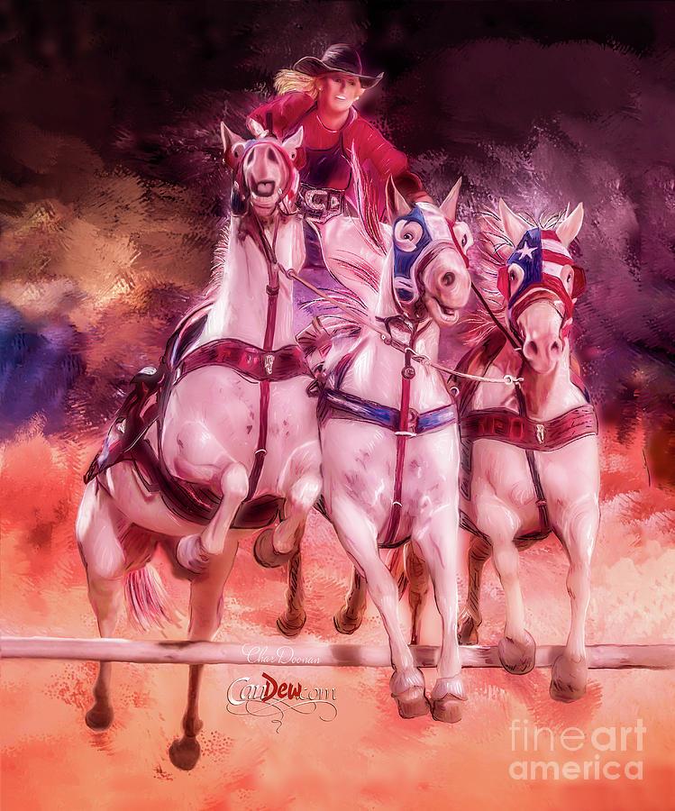 Mt. Vernon Painting - Trick Rider by Char Doonan