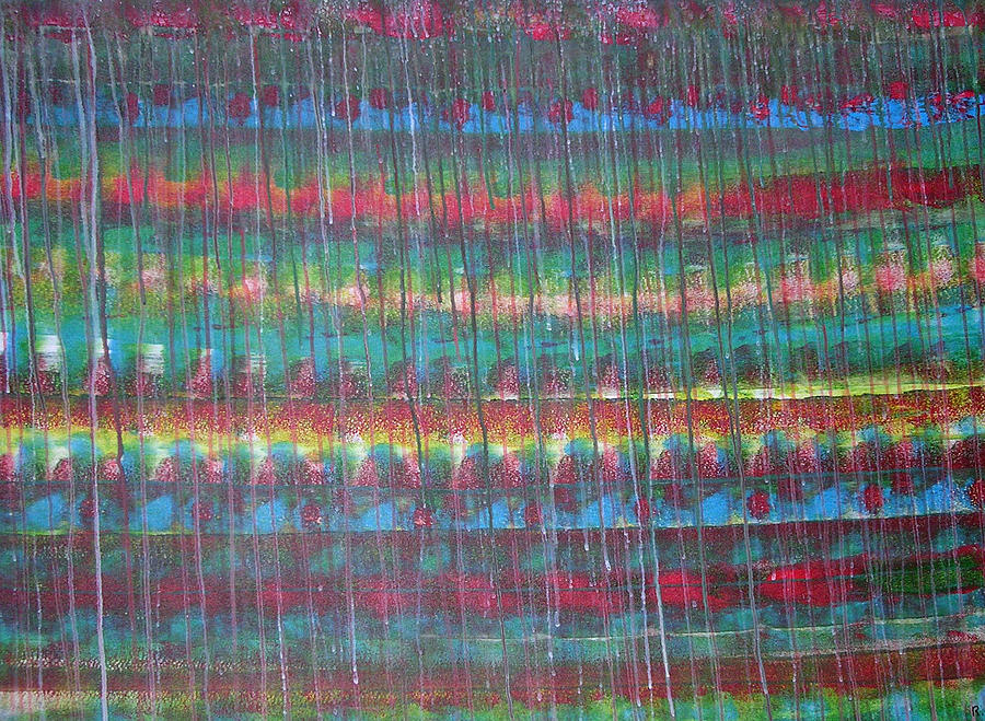 Abstract Painting - Trickle II by Russell Simmons