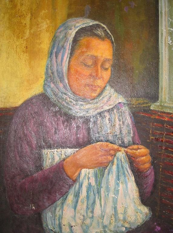 Portrait Painting - Tricot by Ahmed Abdel Fattah