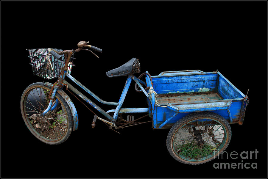 Tricycle In Blue Photograph by Ty Lee