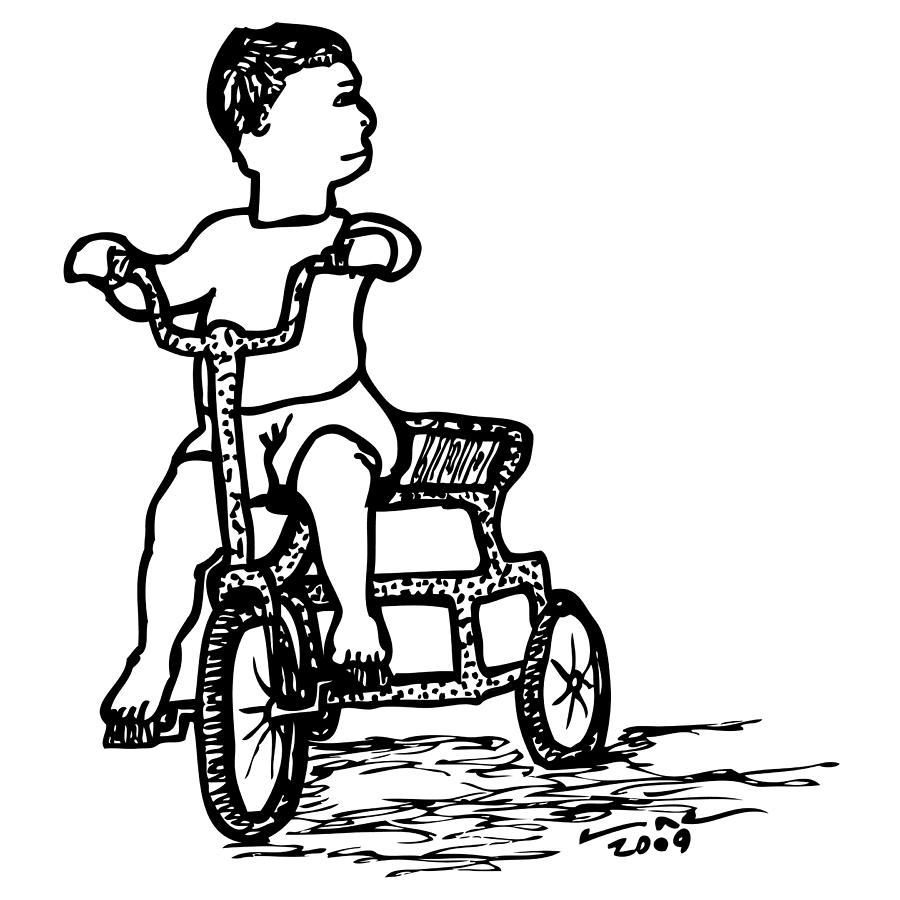 Drawing Drawing - Tricycle by Karl Addison