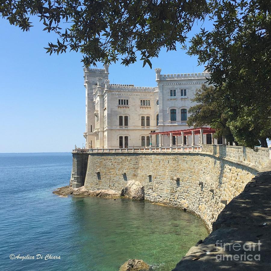Cityscape Photograph - Trieste- Miramare Castle by Italian Art
