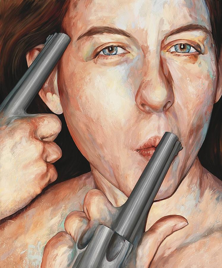 Woman Painting - Triggers by Joyce Polance