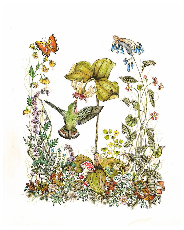 Hummingbird Painting - Trillium by Donna Genovese