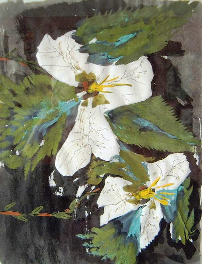 Still Life Painting - Trilliums SOLD by Christopher Green
