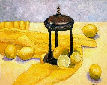 Whimsy Painting - Trilogy Lemon Gazebo by Gainor Roberts