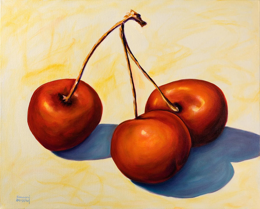 Cherries Painting - Trilogy by Shannon Grissom