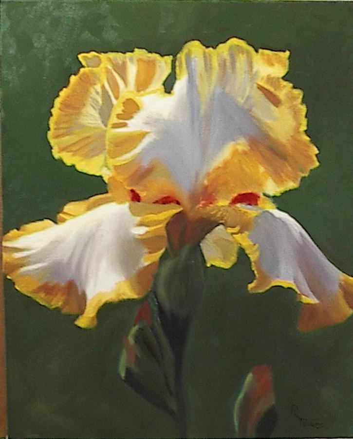 Floral Painting - Trimmed In Yellow 1 by Robert Tower
