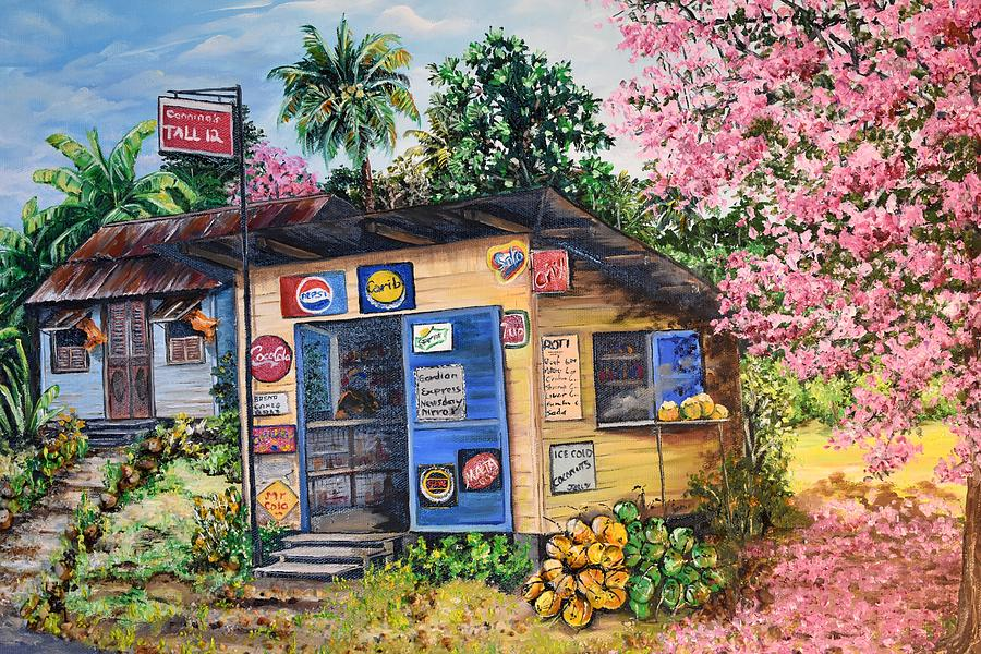 Old House Painting - Trinidad Country Parlour by Karin  Dawn Kelshall- Best