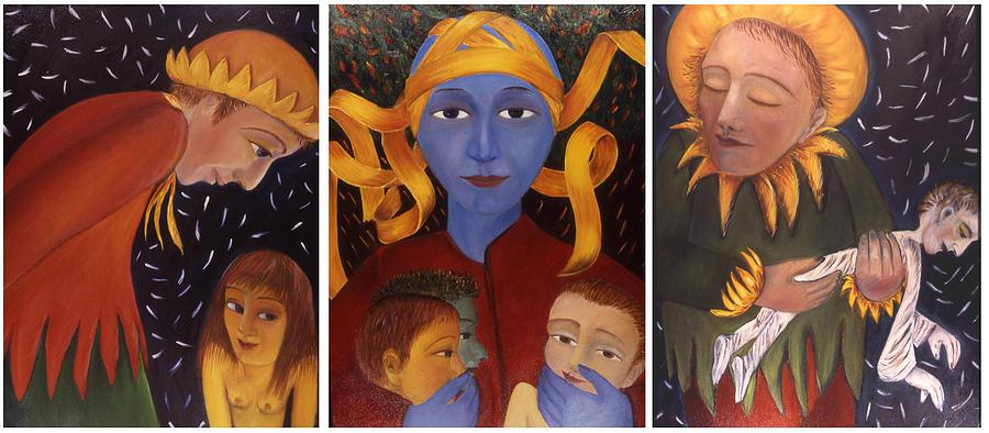 Metaphorical Painting - Trinity by Bert Menco