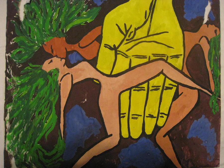 Trinity Painting by Ildiko Szilank