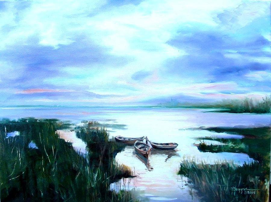 Seascape Painting - Trinity by Yvonne Dagger