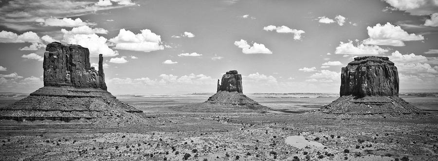 Arizona Photograph - Trio    Left And Right Mittens And Merrick Butte  by Ryan Kelly