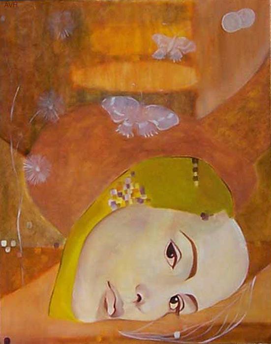 Figurative Painting - Trio by Antoaneta Melnikova- Hillman