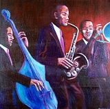 Trio Painting by Elizabeth Brightwell