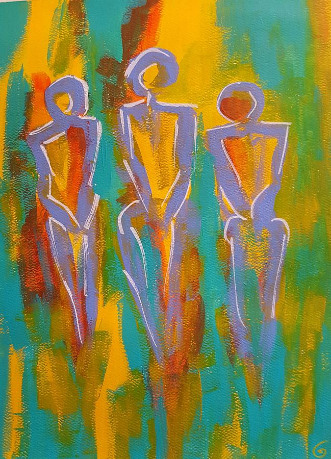 Abstract Painting - Trio by Gail Friedman