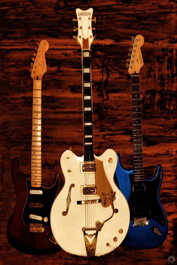 Fender Photograph - Trio by Lourry Legarde