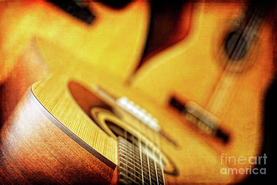 Trio Photograph - Trio of Acoustic Guitars by Lincoln Rogers