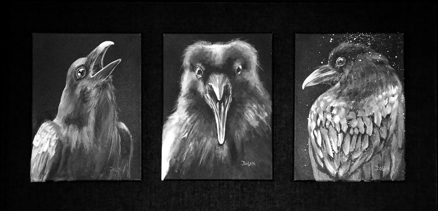 Trio of Ravens by Pat Dolan