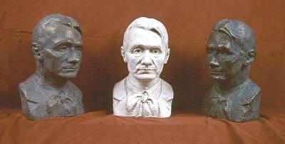 Trio Portrait Of Rudolf Steiner Sculpture by David Dozier