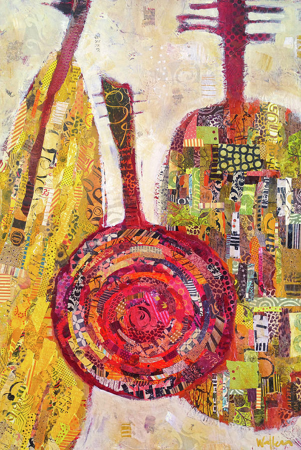 Guitars Painting - Trio by Shelli Walters