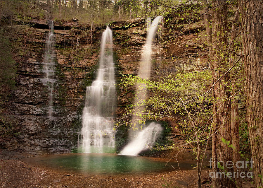 Waterfall Photograph - Triple Falls Landscape by Tamyra Ayles