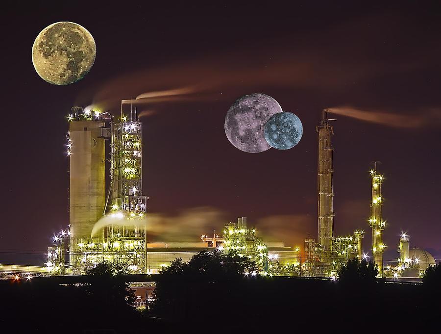 Triple Moon Photograph by Michael Whitaker