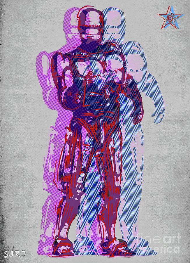 Robocop Mixed Media - Triple Robocop Rbp by Surj LA