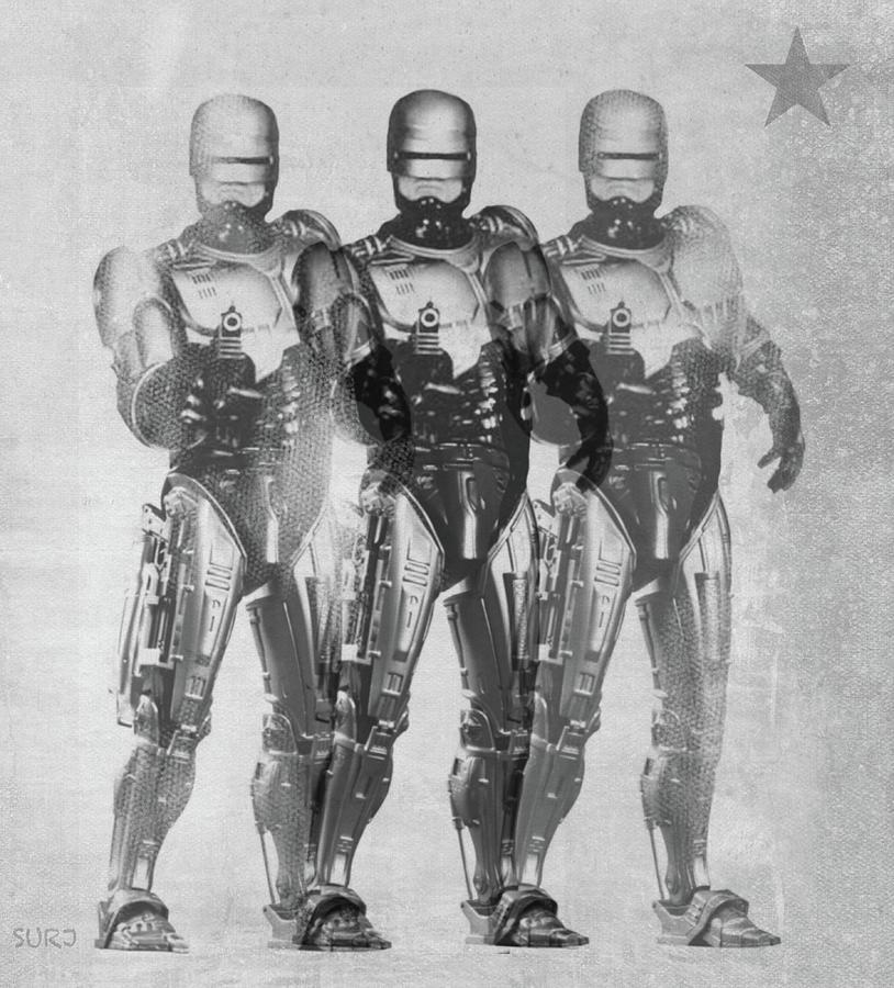 Robocop Mixed Media - Triple Robocop by Surj LA