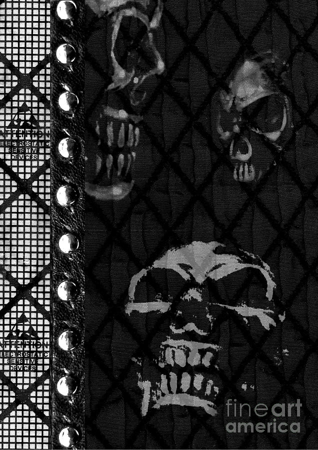Skulls Digital Art - Triple Skulls by Roseanne Jones