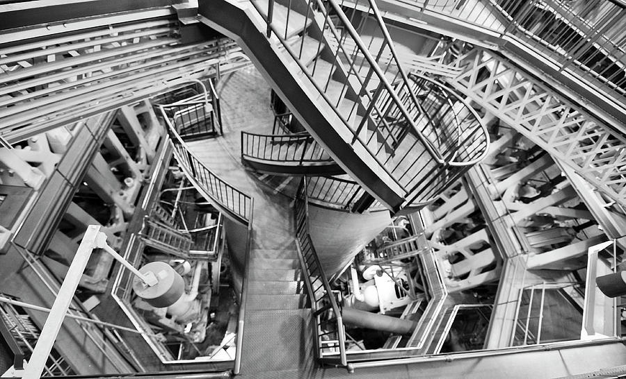 Triple Steam Stairs ala Escher by Rick Hartigan
